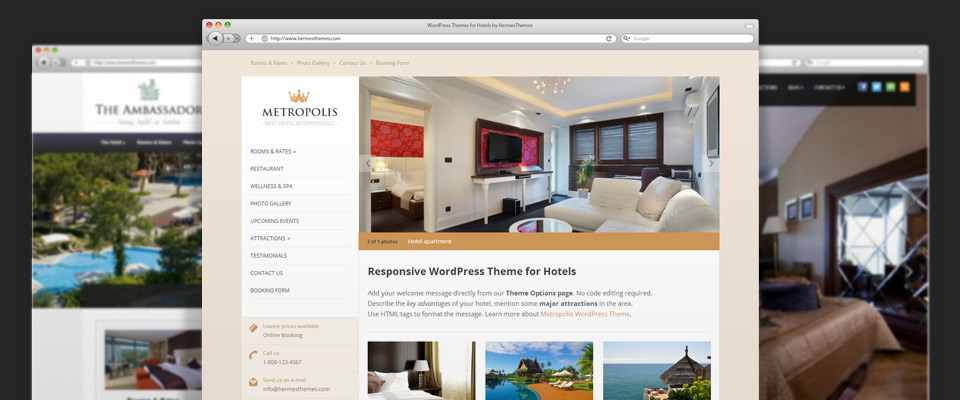 Affordable website design for hotels