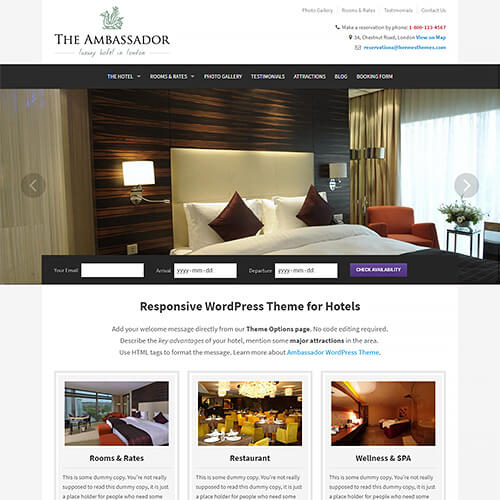 Ambassador WordPress Theme Screenshot