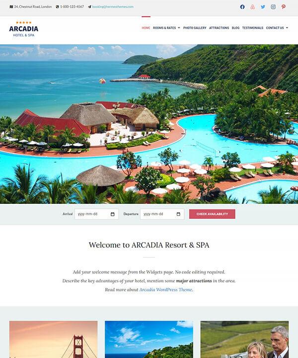 Screenshot of Arcadia WordPress Theme