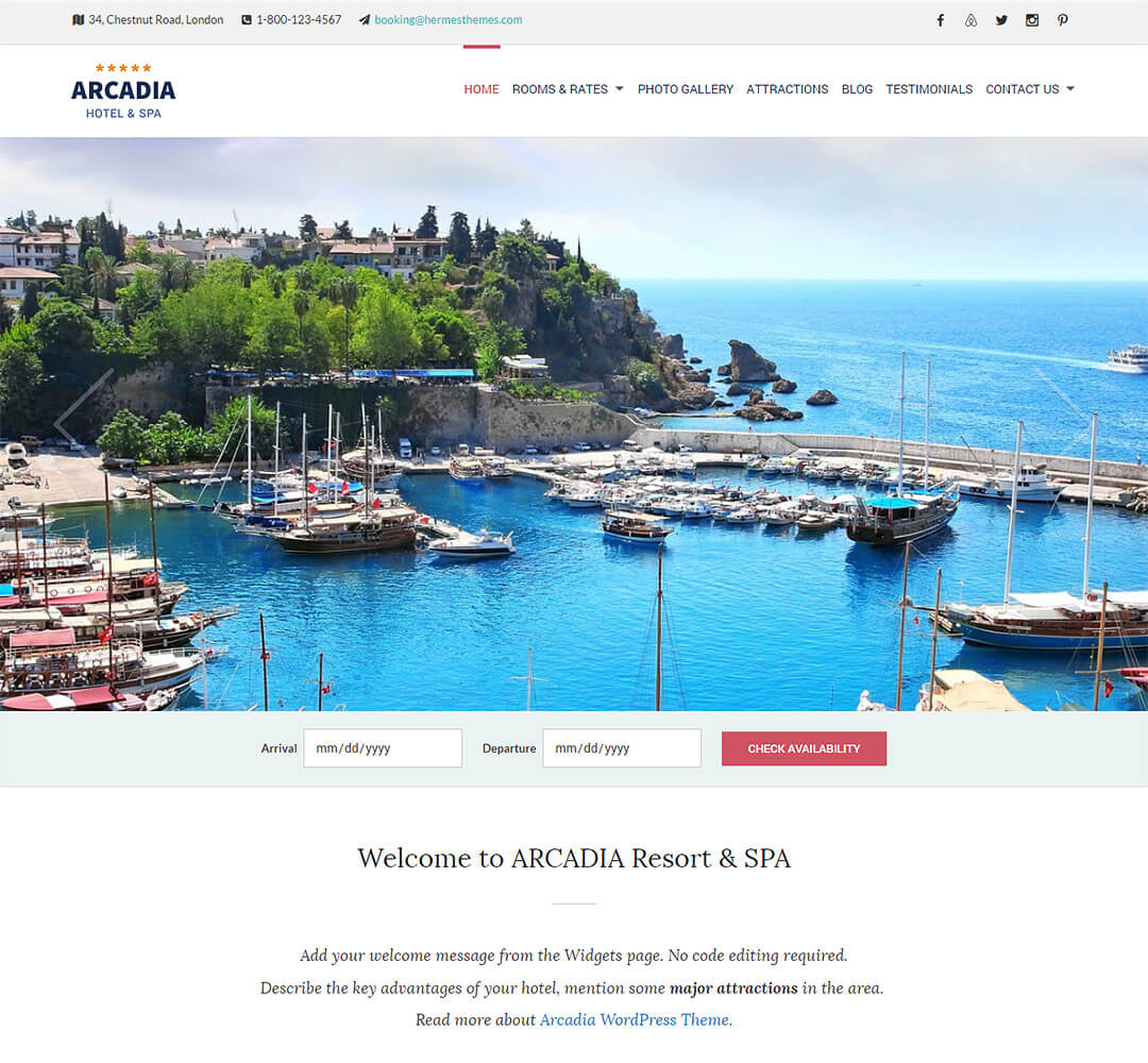 Arcadia WordPress Theme Screenshot