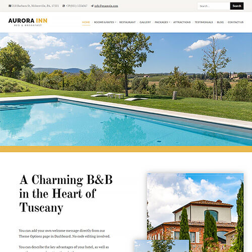 Aurora WordPress Theme Screenshot