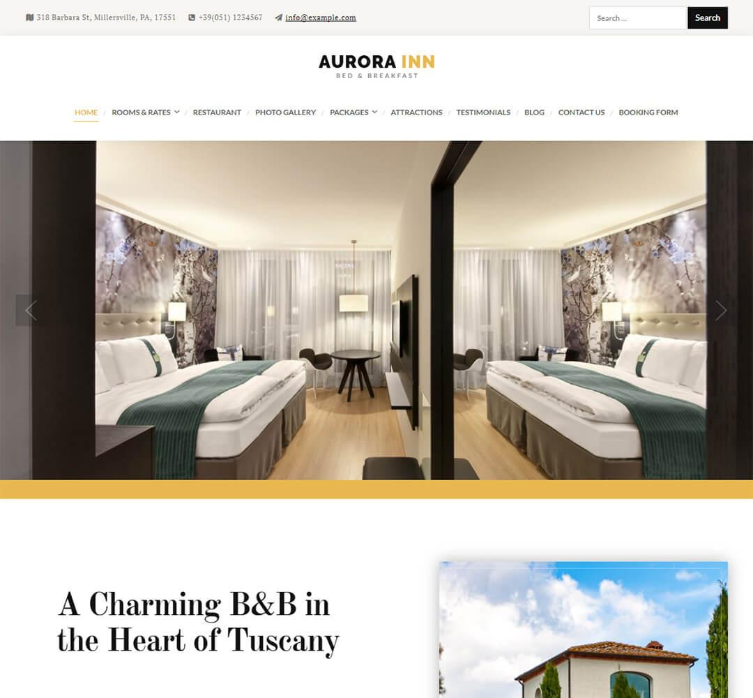 Aurora WordPress Theme Screenshot