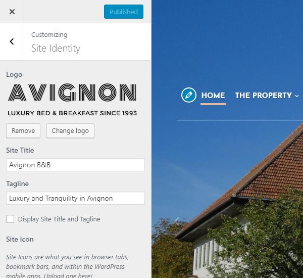 Avignon Theme Customization