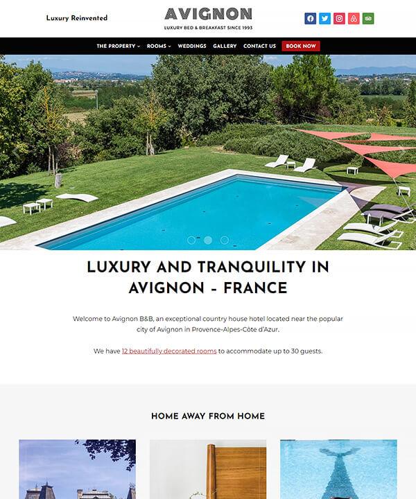 Screenshot of Avignon WordPress Theme
