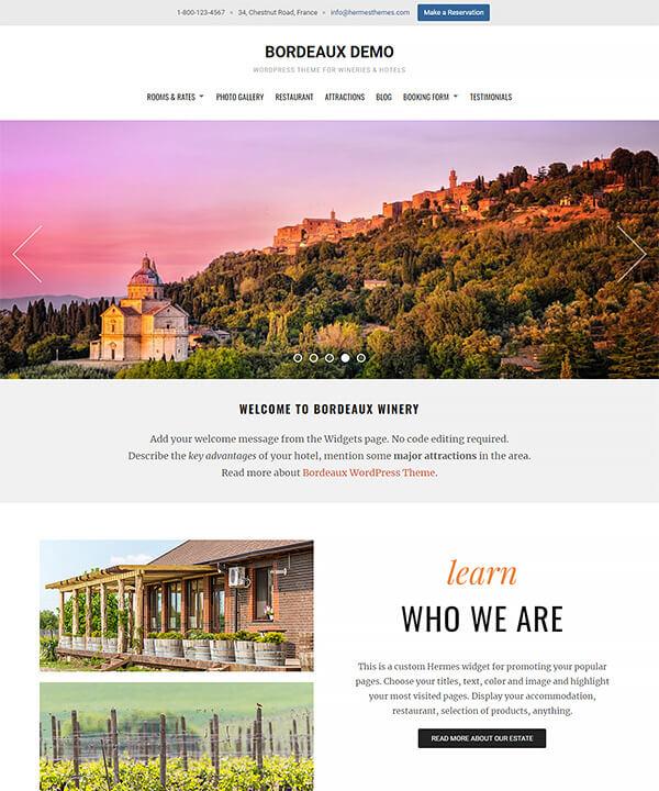 Screenshot of Bordeaux WordPress Theme
