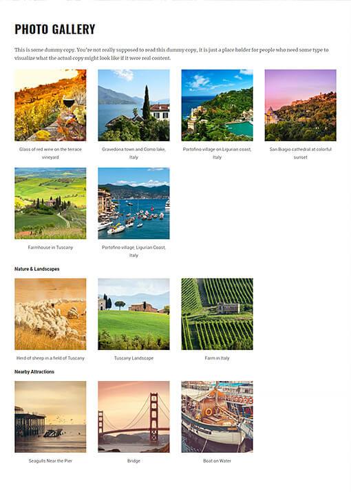 Bordeaux Hotel WordPress Theme Preview: Full Screenshot of Homepage