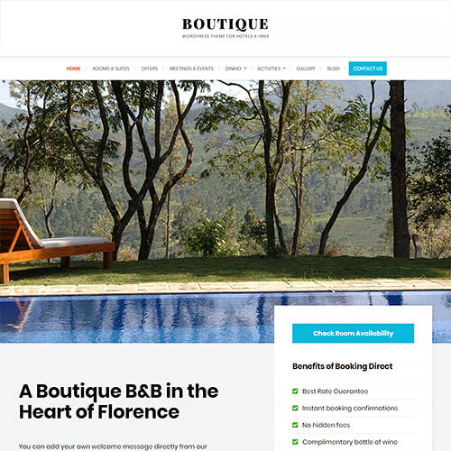 Boutique WordPress Theme Screenshot