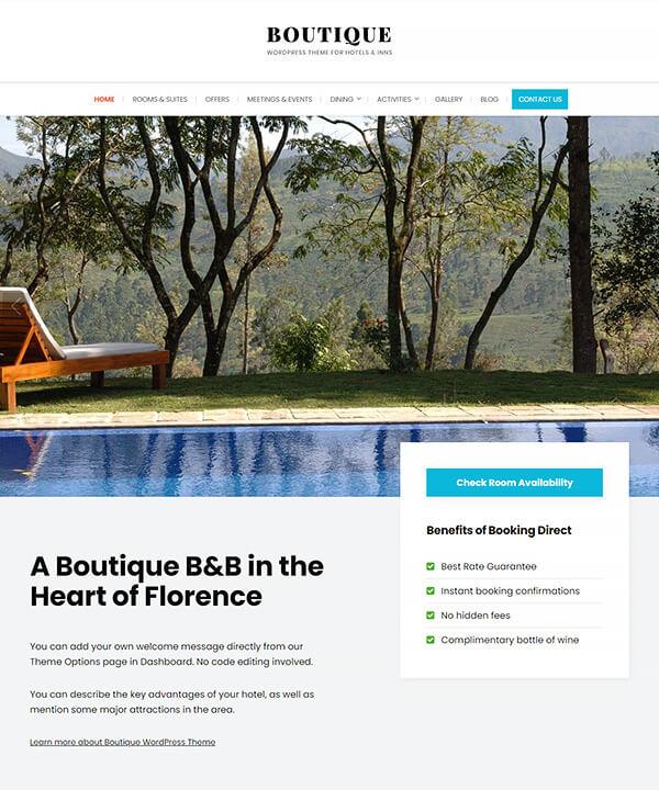 Screenshot of Boutique WordPress Theme