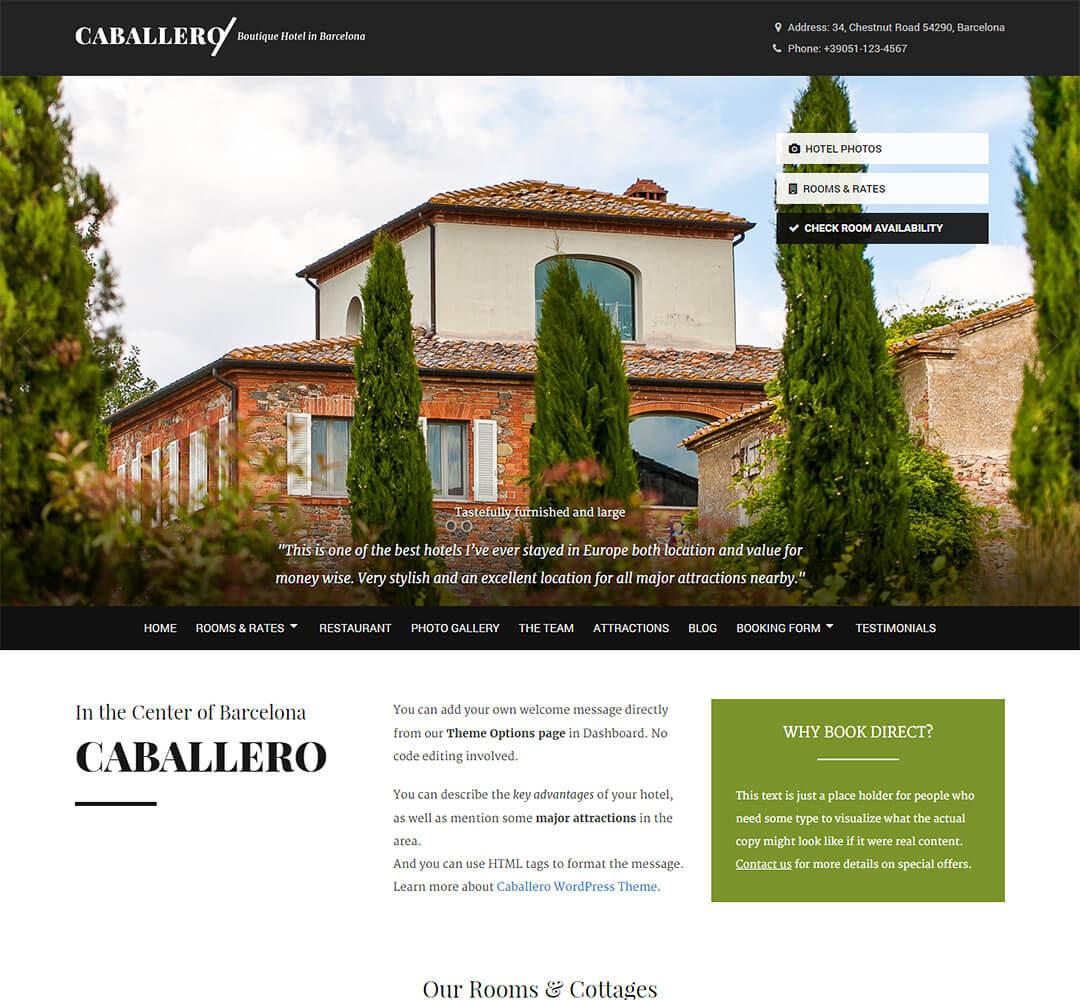 Caballero WordPress Theme Screenshot
