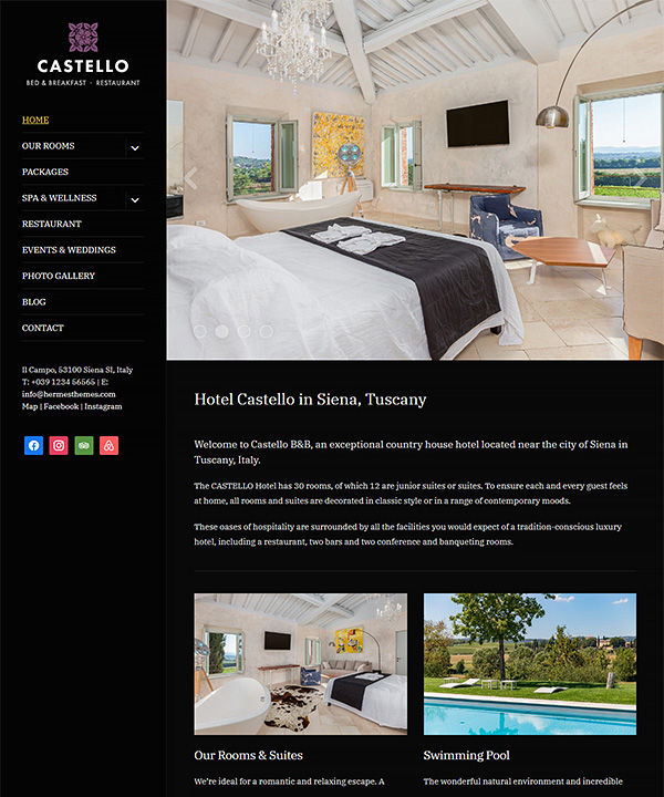 Screenshot of Castello WordPress Theme