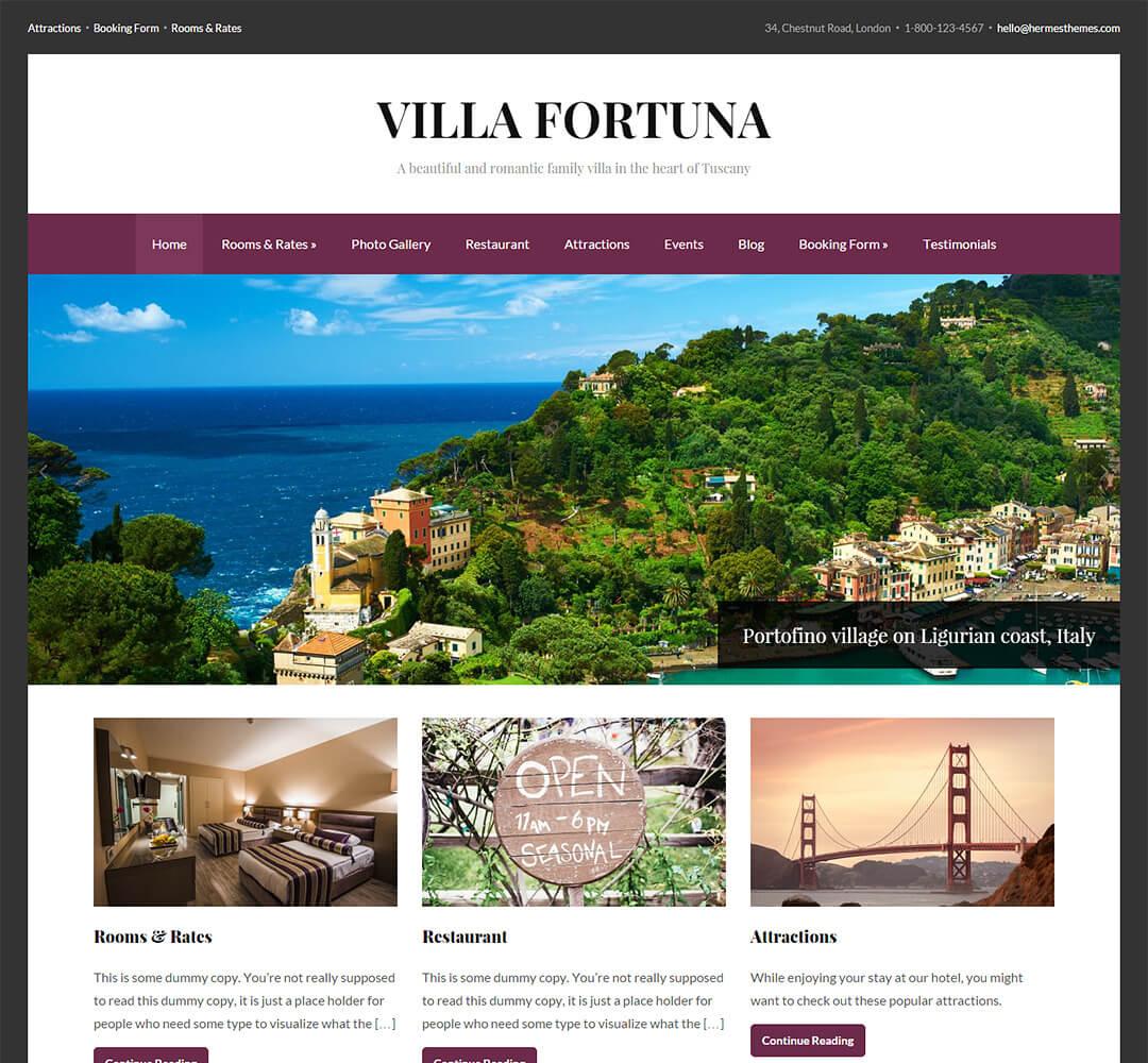 Fortuna WordPress Theme Screenshot