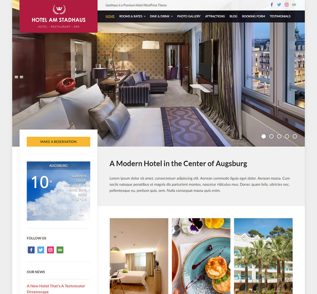 Gasthaus WordPress Theme Screenshot