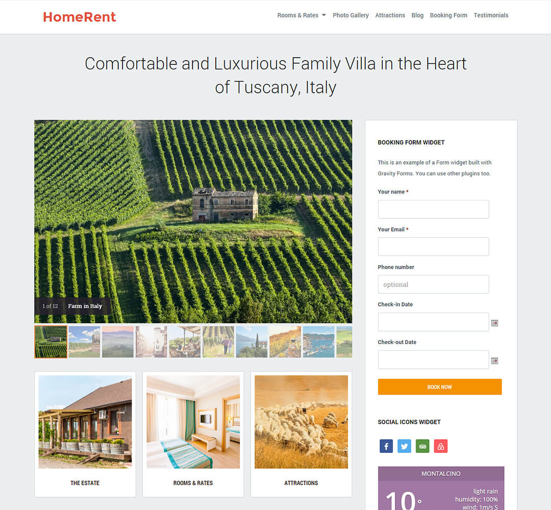 HomeRent WordPress Theme Screenshot