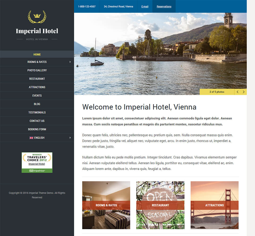 Imperial WordPress Theme Screenshot