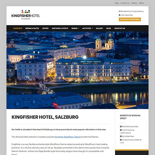 Kingfisher WordPress Theme Screenshot