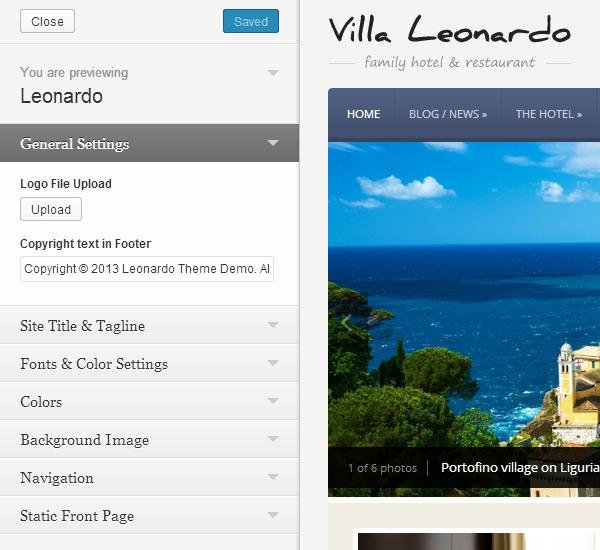 Leonardo Theme Customization