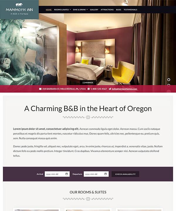 Screenshot of Mammoth WordPress Theme