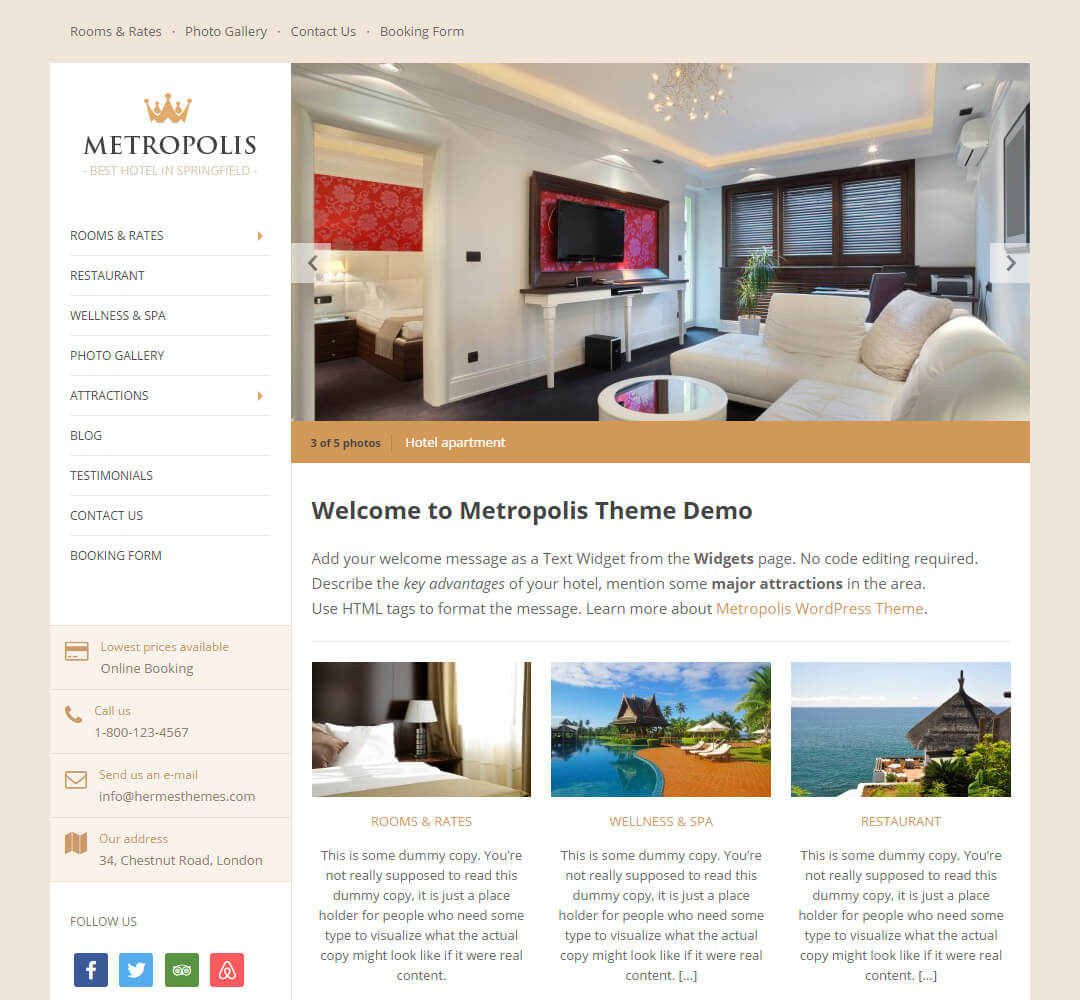 Metropolis WordPress Theme Screenshot