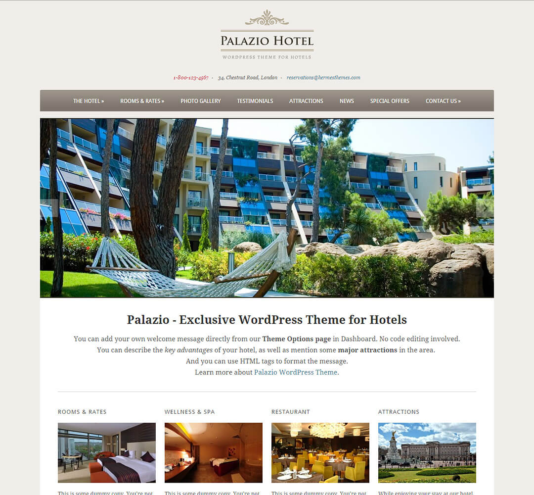 Palazio WordPress Theme Screenshot