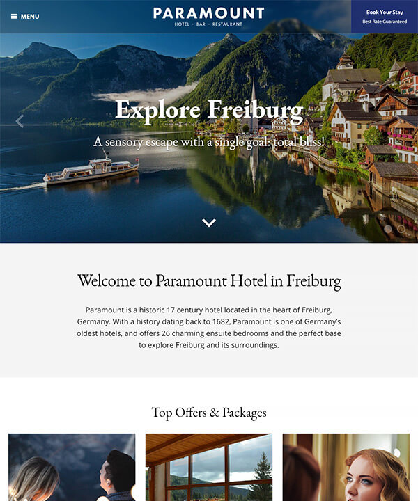 Screenshot of Paramount WordPress Theme