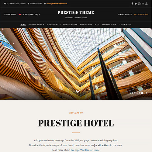 Prestige WordPress Theme Screenshot