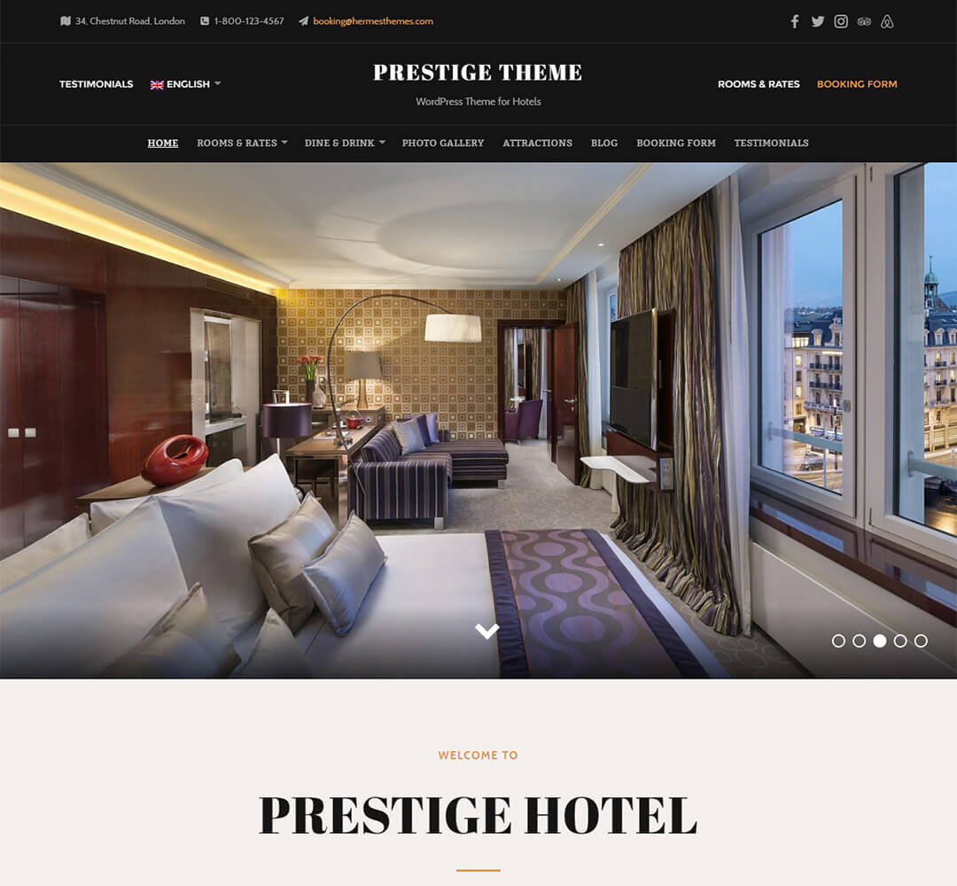 Prestige WordPress Theme Screenshot