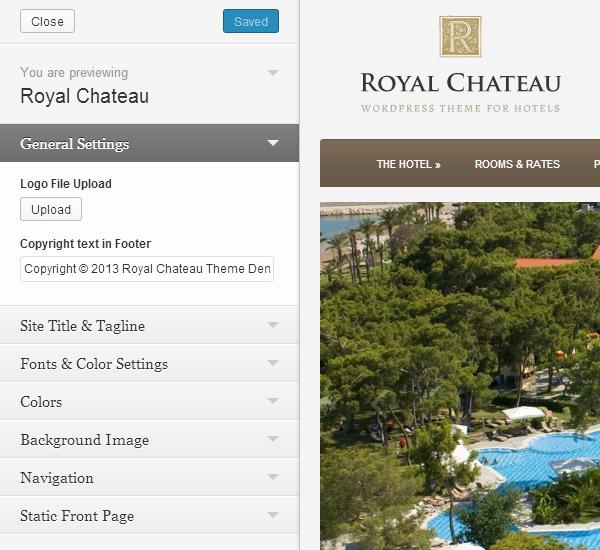 Royal Chateau Theme Customization