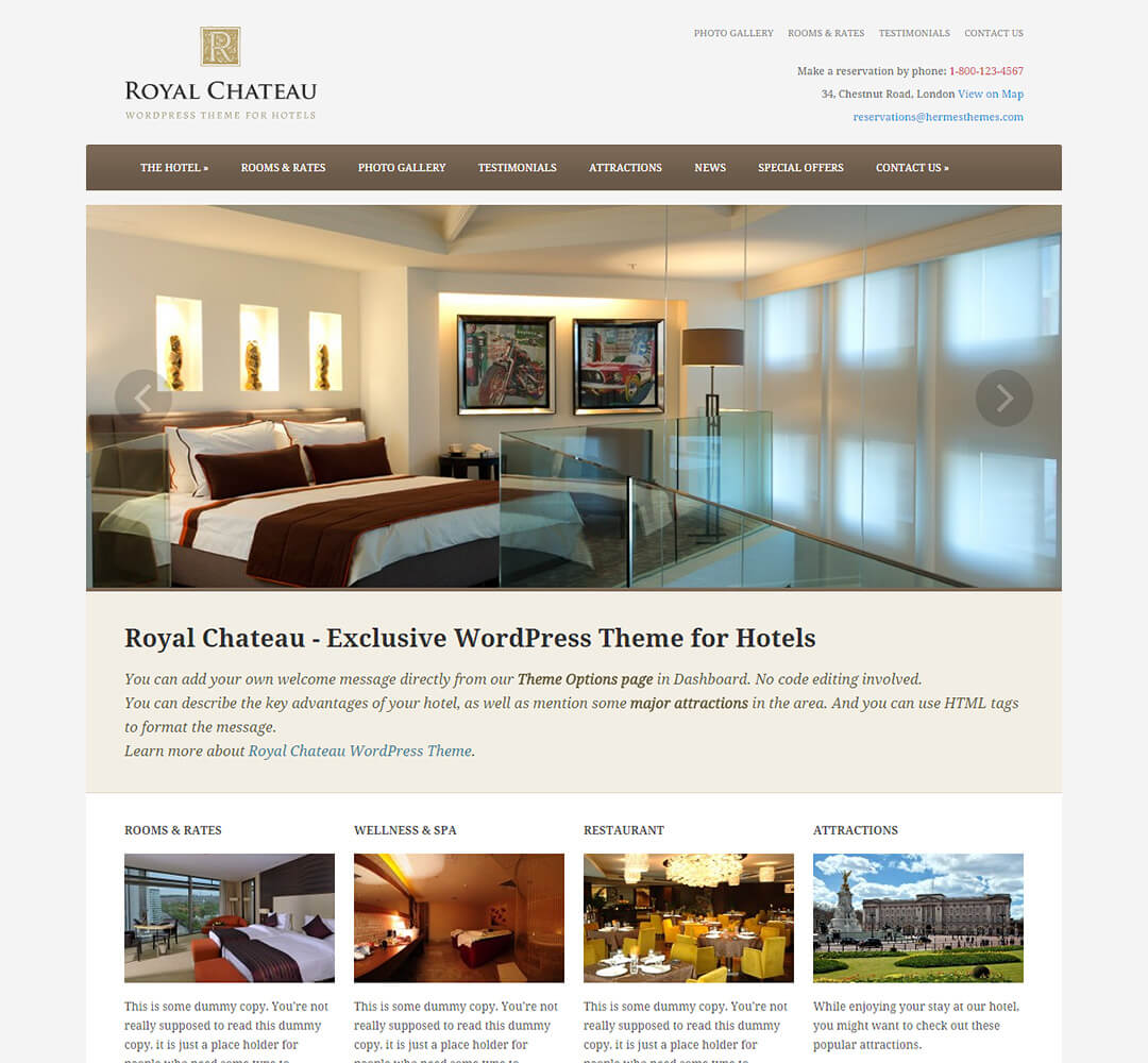 Royal Chateau WordPress Theme Screenshot