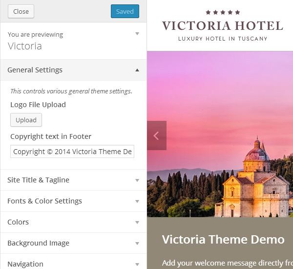 Victoria Theme Customization