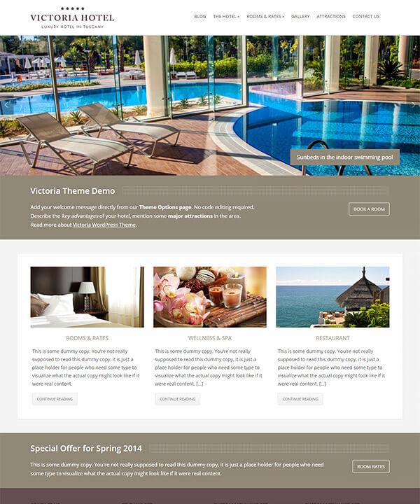 Screenshot of Victoria WordPress Theme