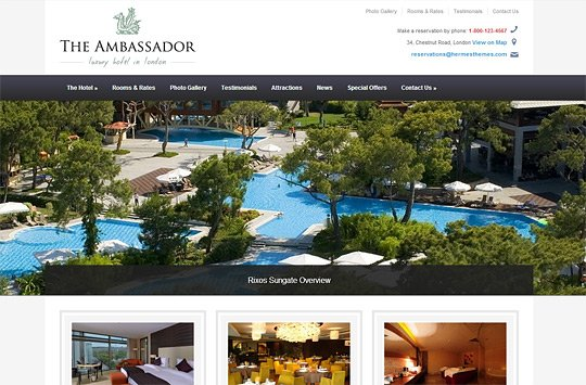 The Ambassador WordPress Theme For Hotels HermesThemes