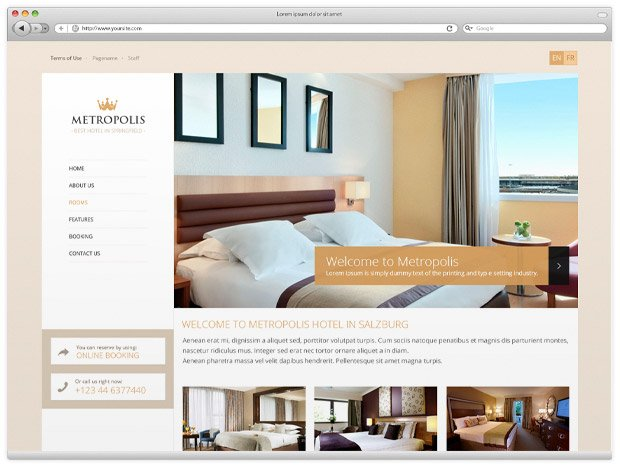 Metropolis Theme Preview: Homepage