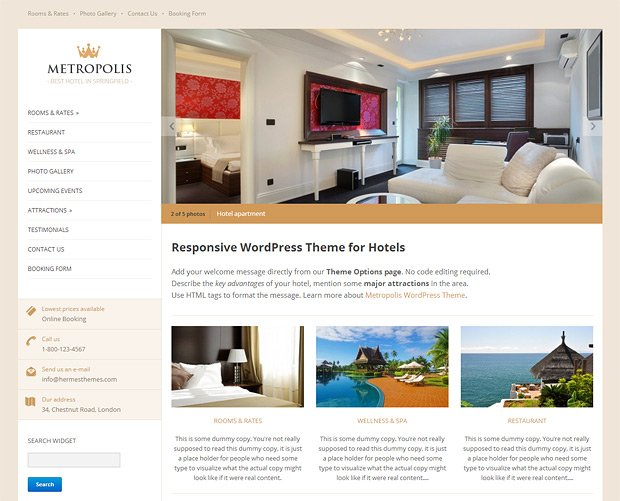 Metropolis WordPress Theme