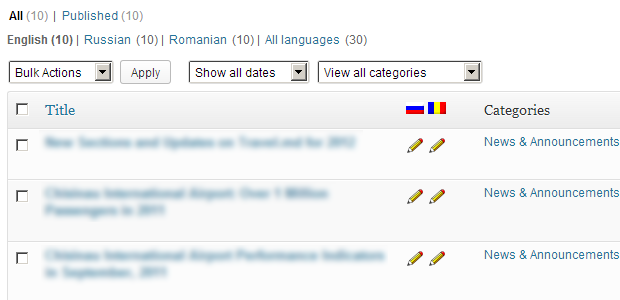 WPML: Quickly access translations for each post/page