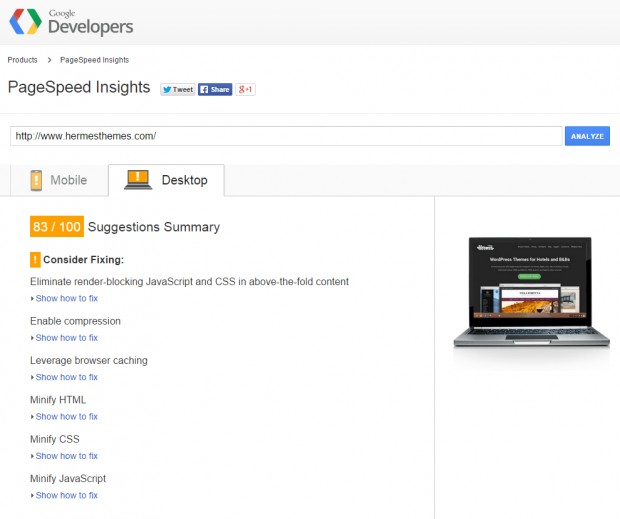 google-page-speed-insights-hermesthemes