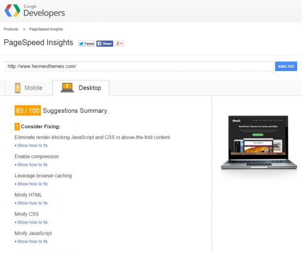 google-page-speed-insights-hermesthemes