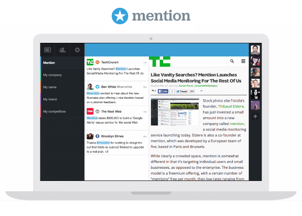 Mention   Real-time media monitoring application