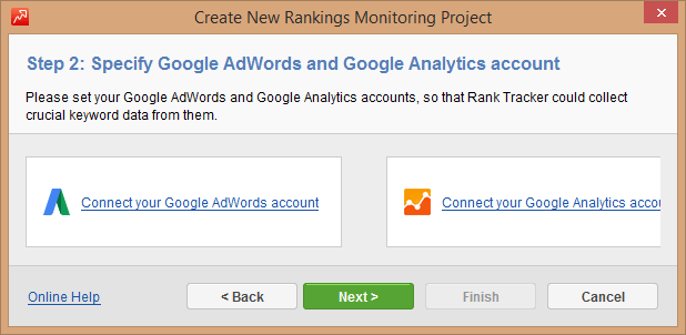 Step 2: Connect to AdWords and Analytics