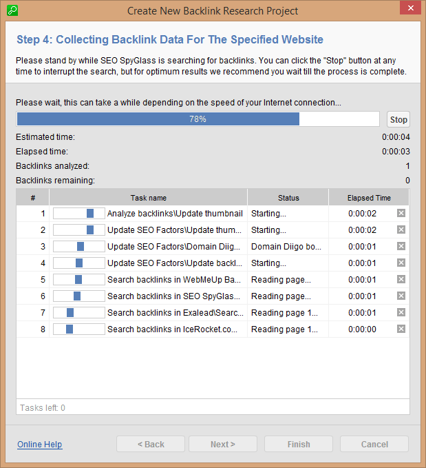 Step 4: Collecting Backlink Data