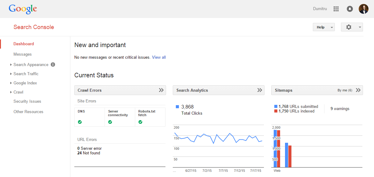 Resultado de imagen de google search console