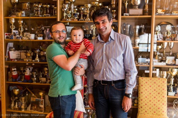 Photo of Dumitru Brinzan and his son Oliver with Andre Arnold