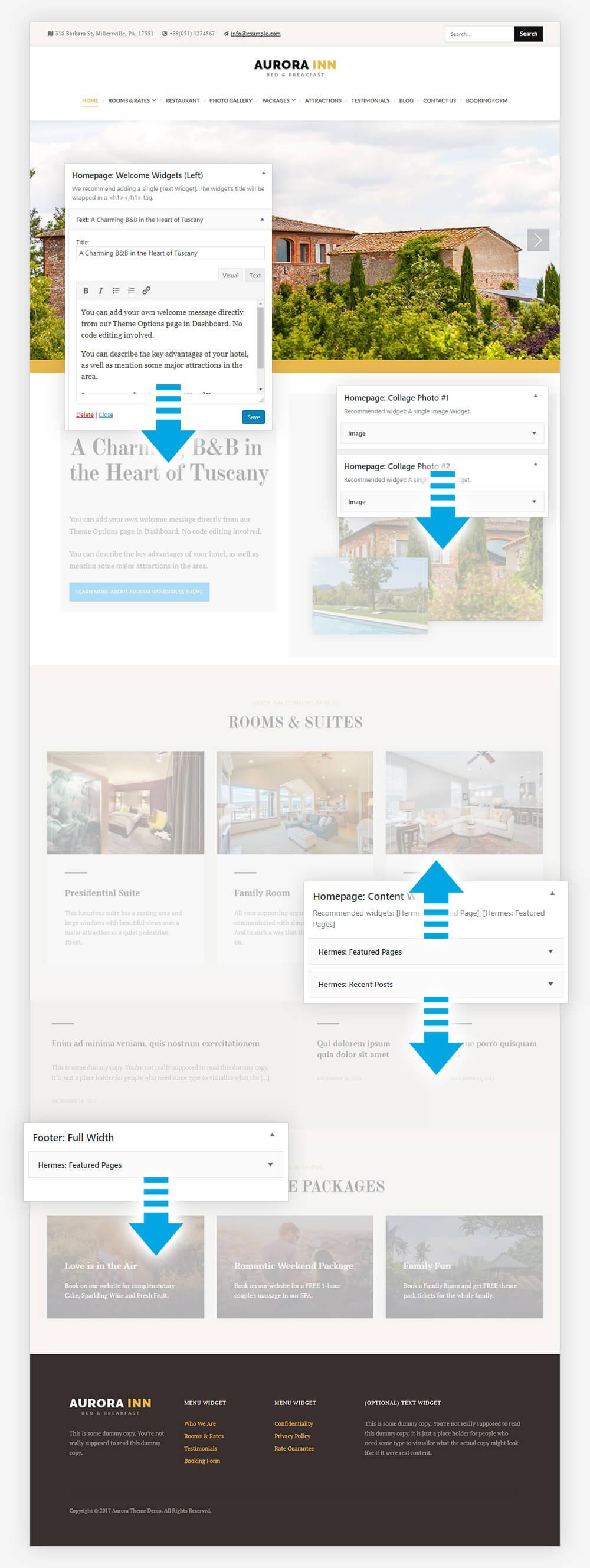 Introducing AURORA Hotel WordPress Theme - HermesThemes.com